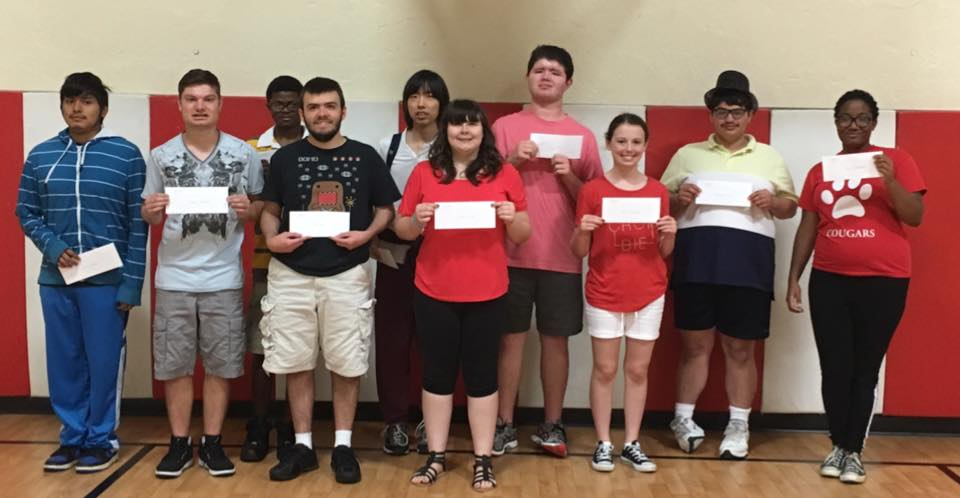 Students received their stipend checks after the school talent show on the last day of ESY.