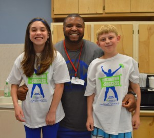 Damian Gregory with Calais School students - private special education, Whippany, NJ.